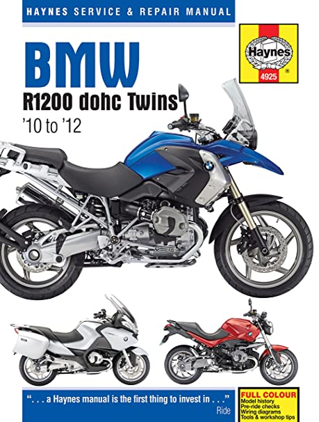 amazon com 2010 2012 bmw r1200 gs r rt haynes repair manual 4925 rh amazon com 2013 bmw s1000rr owners manual 2012 bmw s1000rr service manual pdf