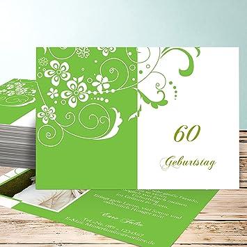 Einladungskarten 60 Geburtstag Selbst Gestalten Blütenkarte Mit
