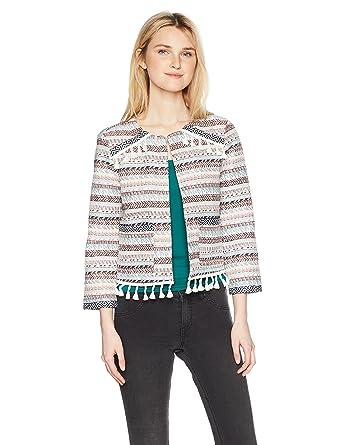 6ef0574ea3b Jack by BB Dakota Women s Gilbreth Jacket with Ribbon Trim and Fringe Hem  at Amazon Women s Coats Shop