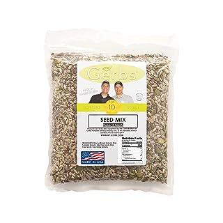 Pumpkin, Sunflower, Chia, Flax, Hemp Seed Raw Mix by Gerbs - 4 LBS - Top 12 Food Allergy Free & NON GMO - Vegan & Kosher – Made in USA (Super 5 Seed Mix, 4LB)