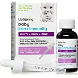 UpSpring Baby Multivitamin plus Iron Liquid Drops for Babies and Toddlers with Easy to Use Dropper