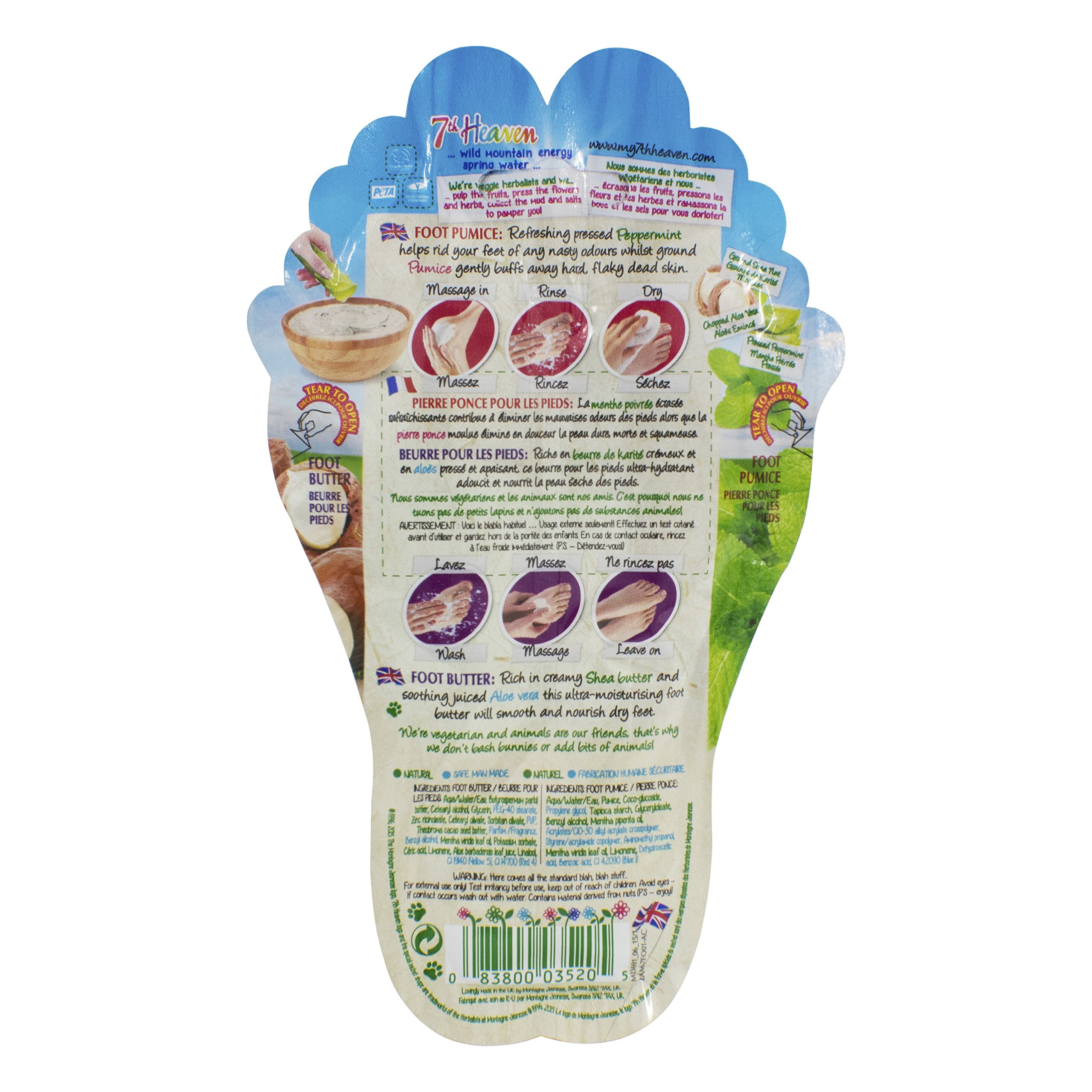 7th Heaven Foot Pumice & Foot Butter Combo Packet (Pack of 12)