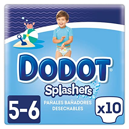 Dodot Pañales Bañadores Desechables Splashers para 14+ kg, Talla 5, 10 Piezas