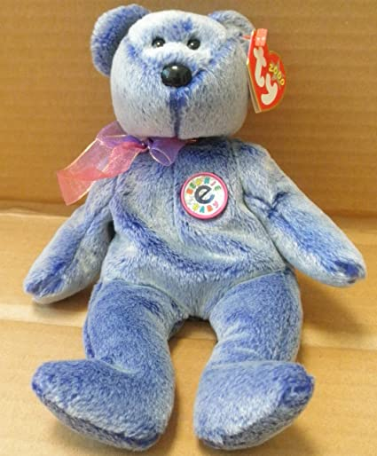 00fd8ad0e3b Amazon.com  TY Beanie Babies Periwinkle the Bear Plush Toy Stuffed Animal   Toys   Games