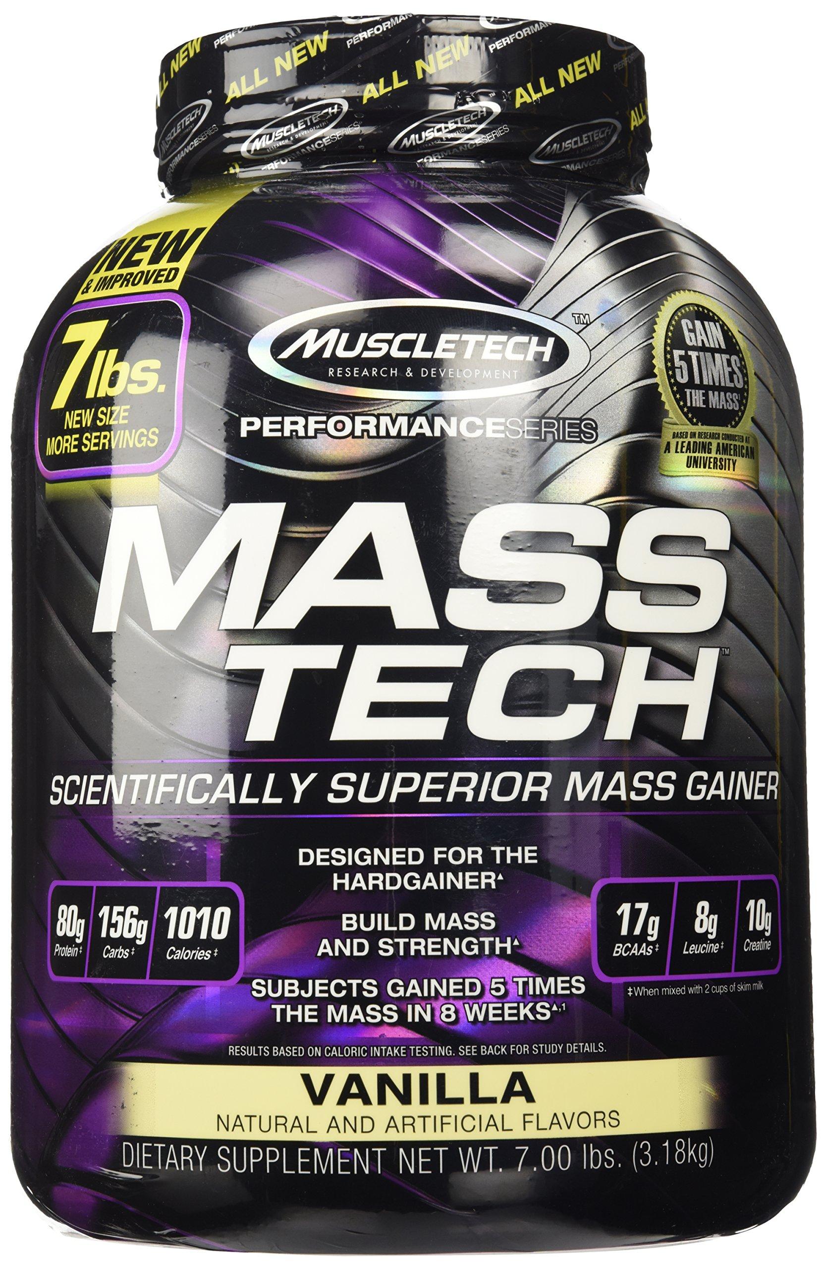 MuscleTech Mass-Tech Advanced Muscle Mass Gainer - Vanilla - 7 lbs