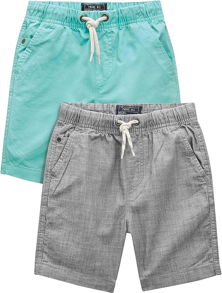 next Niños Pack De Dos Pantalones Cortos Vaqueros Verde Menta/Gris (3-16 Años) Corte Estándar Menta/Gris 16 años: Amazon.es: Ropa y accesorios