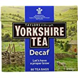 Yorkshire Tea Decaffeinated Tea 80 Bags 250 g (Pack of 5, total of 400)
