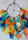 DREAM CATCHER BEAUTIFUL ITEM / DREAMCATCHER RAINBOW MULTI COLOUR / FEATHERS