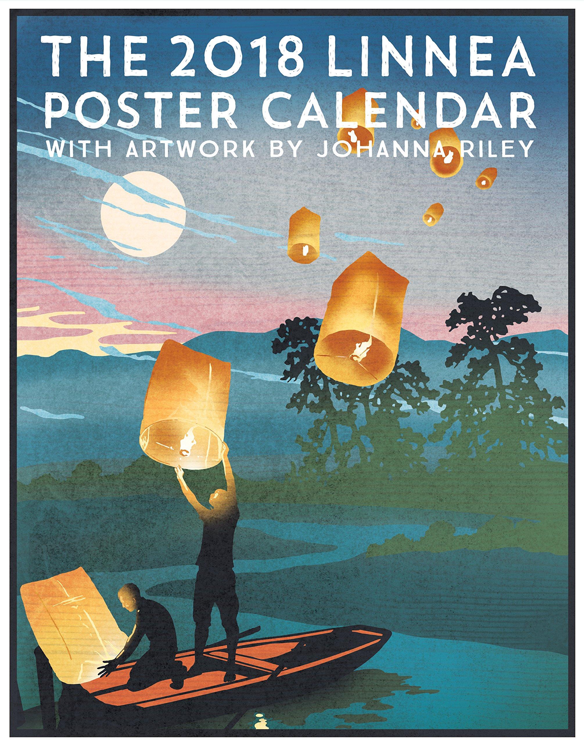 Linnea Design 2018 Poster Calendar Art By Johanna Riley by Linnea Design