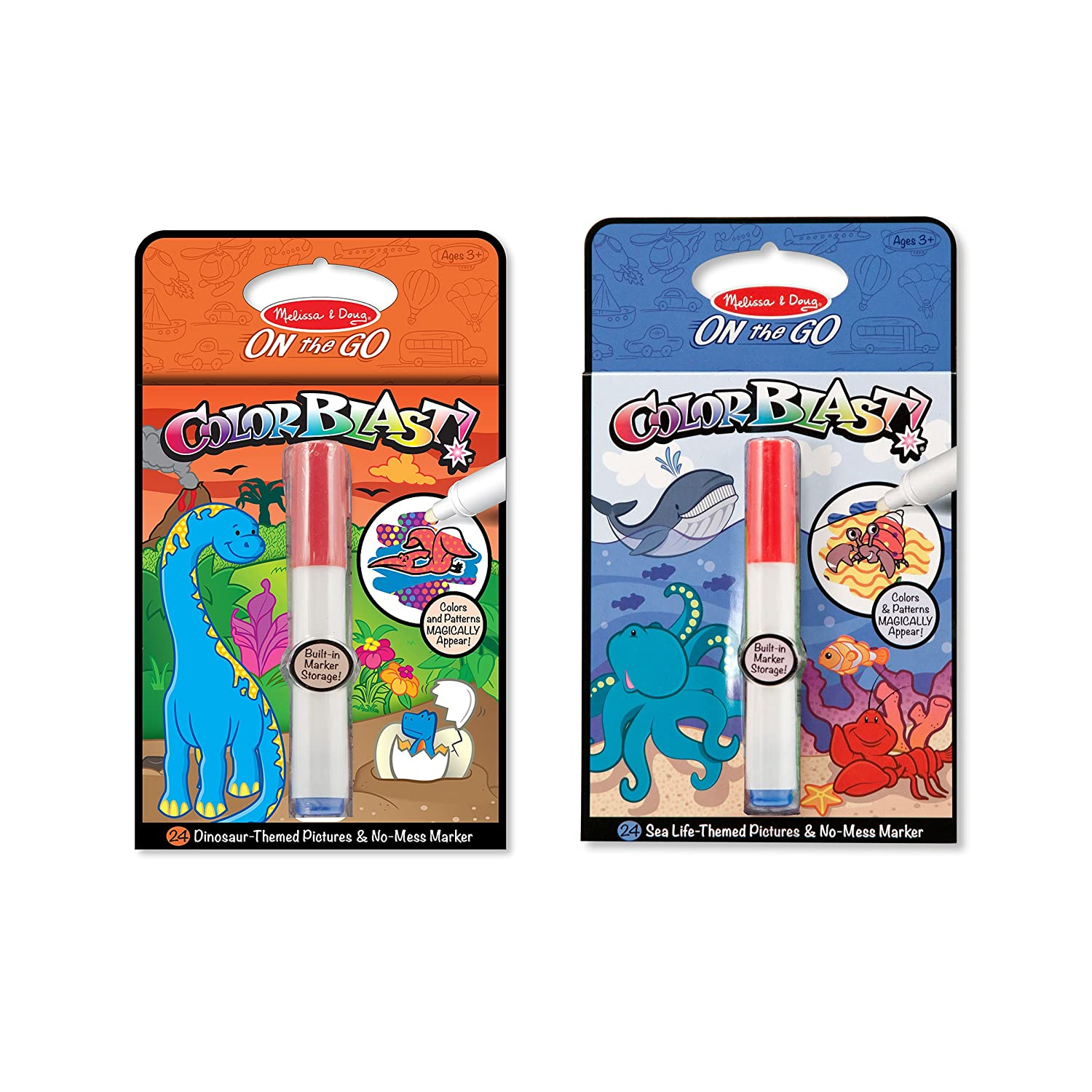 Amazon.com: Melissa & Doug ColorBlast! Sea Life and Dinosaurs Color ...