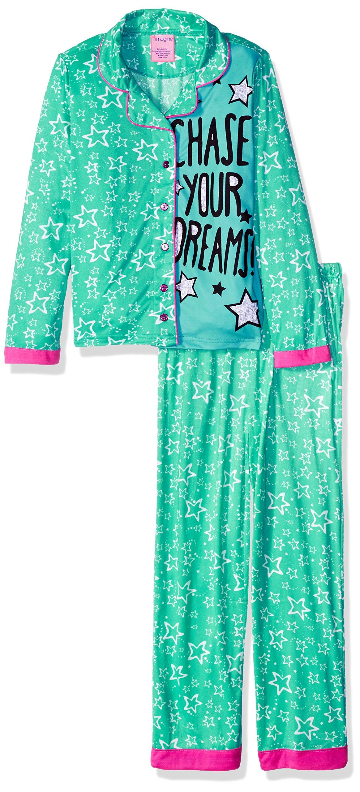 Imagine Big Girls' Chase Your Dreams 2pc Coat Set, Turquoise/Multi, Large(10/12)
