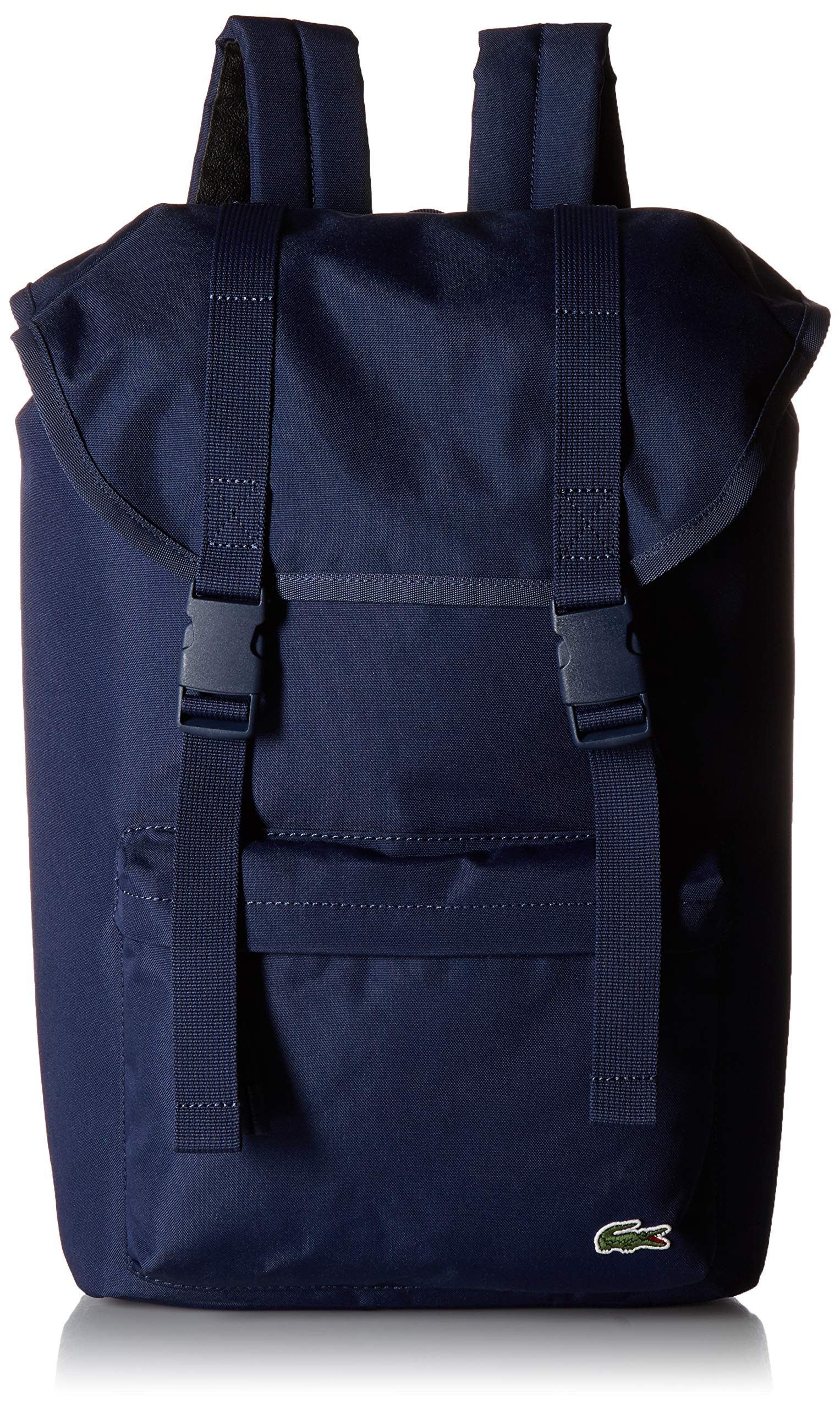 Lacoste Men's Neocroc Flap Backpack, Peacoat, 00