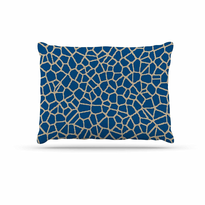 KESS InHouse Trebam Staklo IV bluee Brown Dog Bed, 50  x 40