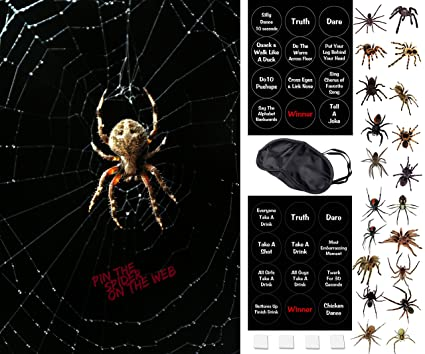 fun halloween party game pin the spider on the web 2 halloween games in