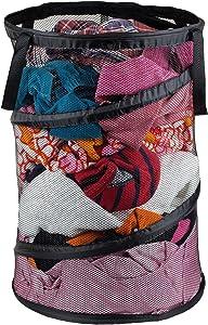 Greenco Space Saver Folding Pop-up Portable Mesh Laundry Hamper, Black