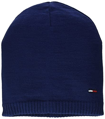 Tommy Jeans Basic Knit Beanie, Gorro de Punto para Mujer