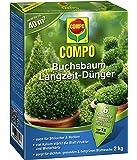 COMPO Buchsbaum Langzeit-Dünger, hochwertiger Spezial-Langzeitdünger, für alle Buchsbaumarten und Hecken, 2 kg