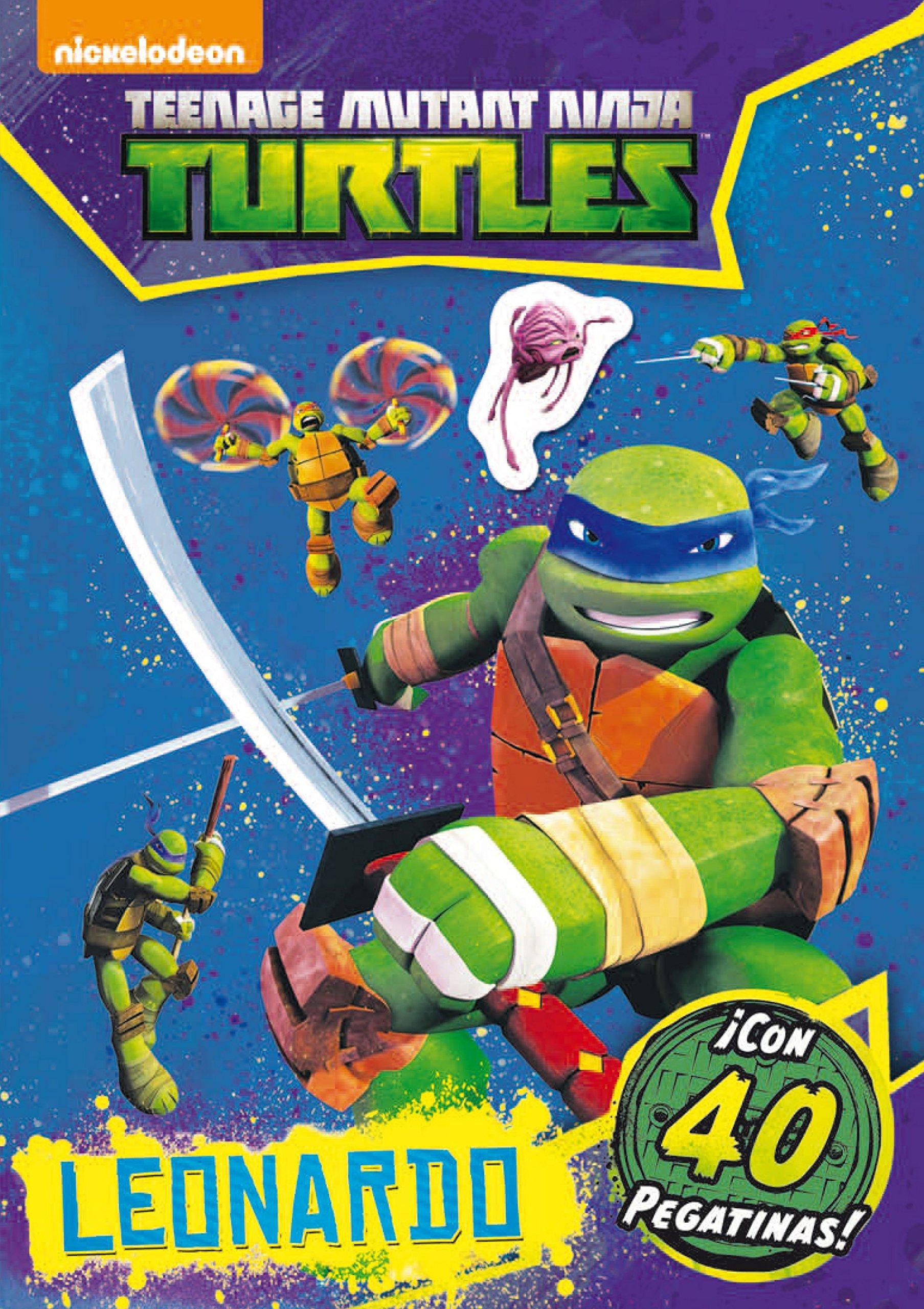 Las Tortugas Ninja. Leonardo. Actividades con pegatinas: VV ...