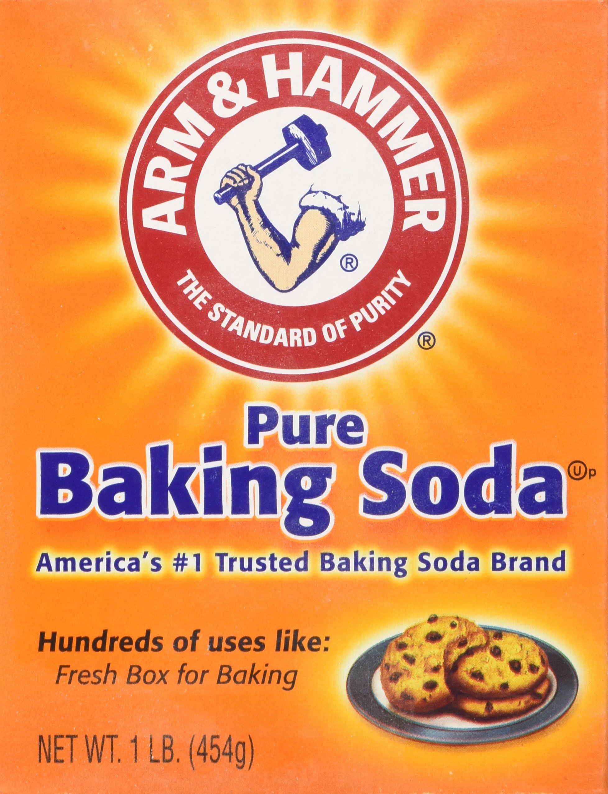 Arm & Hammer Baking Soda, Pure 16 Ounces (Pack of 6)