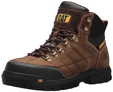 Caterpillar Men's Threshold Waterproof Steel Toe Industrial Boot, Brown, ...