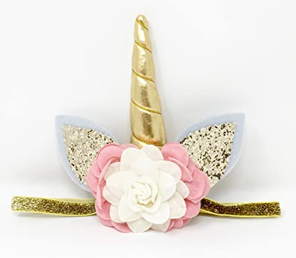 Amazon.com  Posh Peanut Unicorn Childrens Party Hat Horn Glitter Elastic  Headband Spiral Unicorn Horn Cosplay (Blush Pink Ivory)  Toys   Games 7ae85afa1641