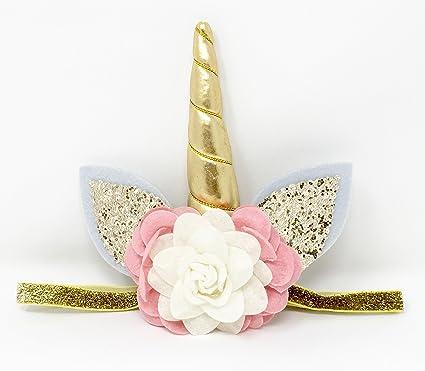 Tiara De Bebé Cuerno De Unicornio Niñas Headwear Cinta Para Niños