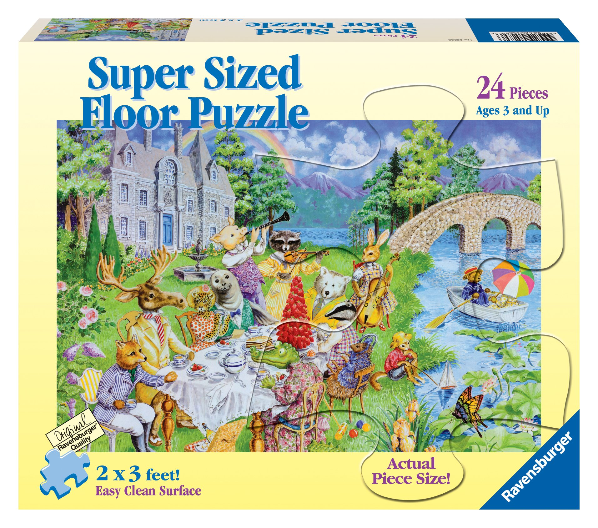 Ravensburger Critter Tea Party - 24 Pieces Super Sized Floor Puzzle