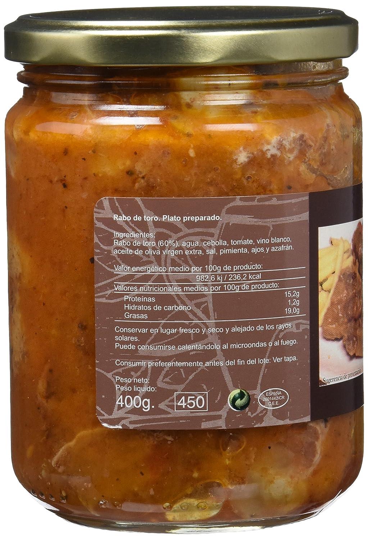 Félix Soto, Conserva de carne de vacuno (Rabo de Toro) - 2 de 400 gr. (Total 800 gr.): Amazon.es: Alimentación y bebidas