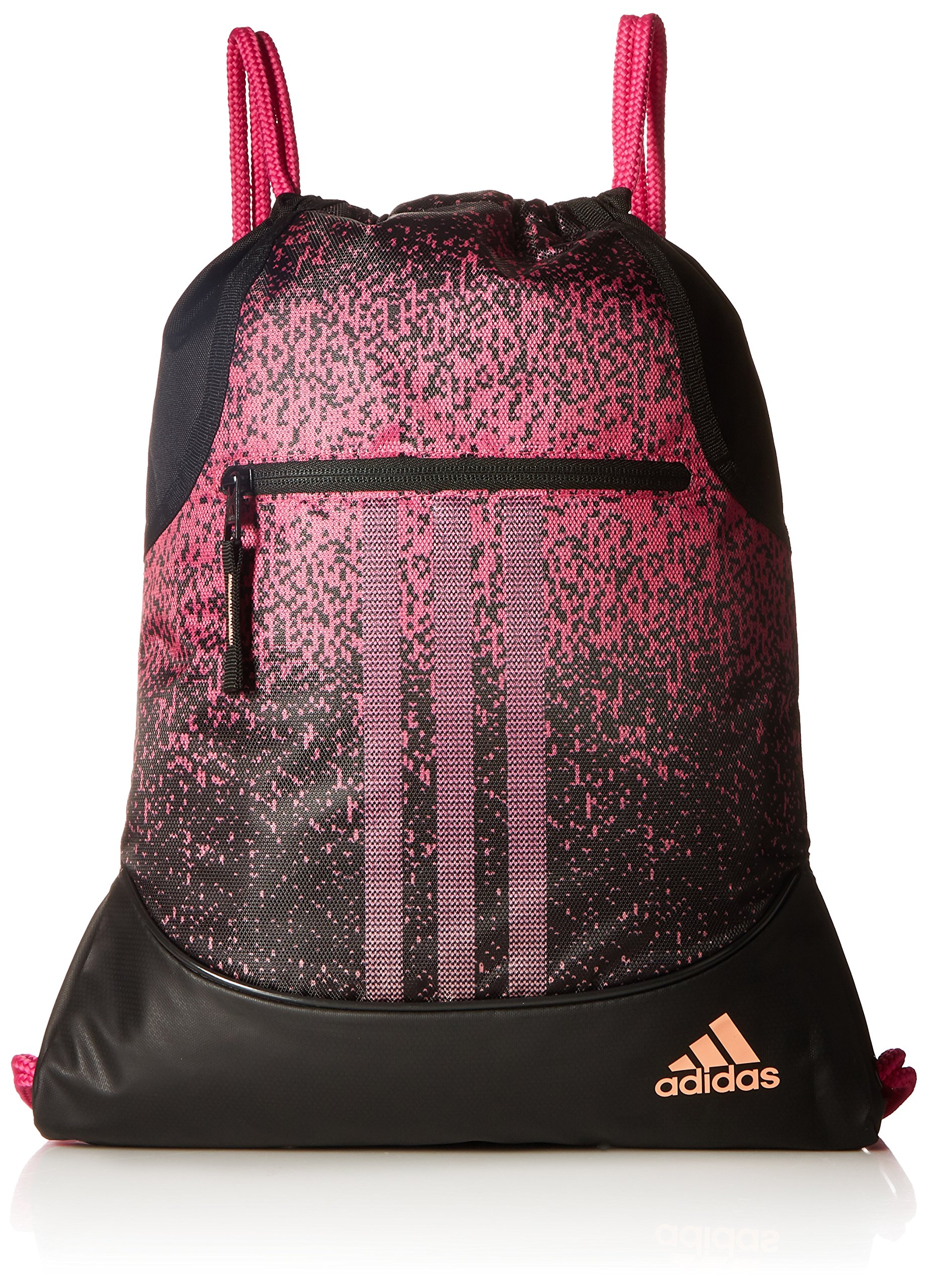 adidas Alliance sublimated prime sackpack, Bahia Magenta/Black/Chalk Coral, One Size