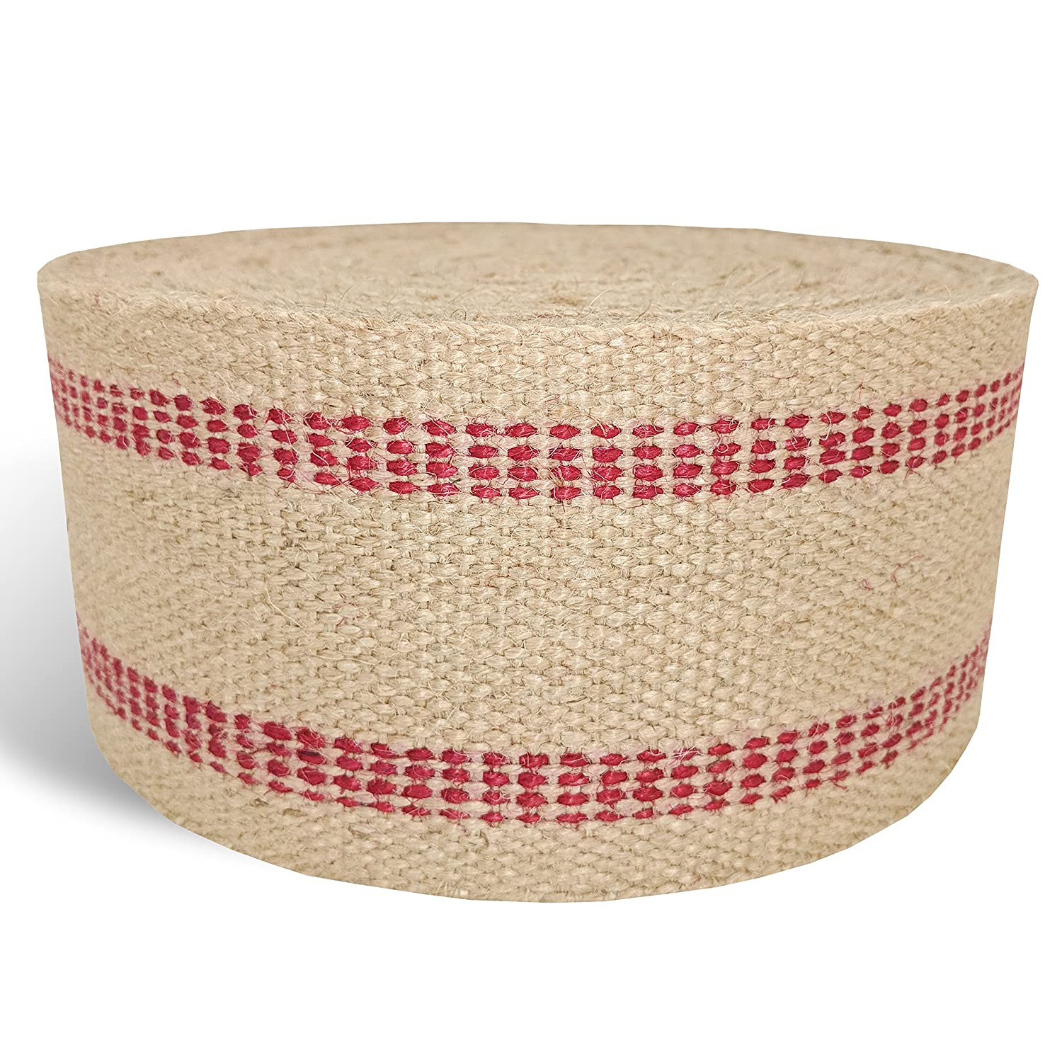 Red Upholstery Craft Jute Webbing, 11 lbs 3.5 x 10Yd and 20 Yd Rolls (20 yd) Wholesale Upholstery Supply 4336912947