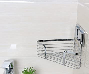 Bathroom Corner Shower Caddy, Triangle Storage Shelf Self Adhesive Bath  Caddy Basket Shampoo Holder,