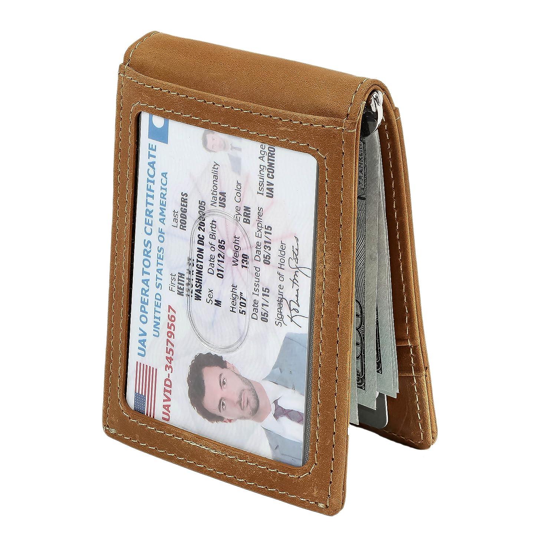 male designer wallets 9ywn  SERMAN BRANDS- RFID Blocking Bifold Slim Genuine Leather Thin Minimalist  Front Pocket Wallets for Men Money Clip
