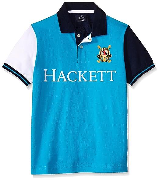 Hackett London Trop Multi B, Polo para Niños, Turquesa ...