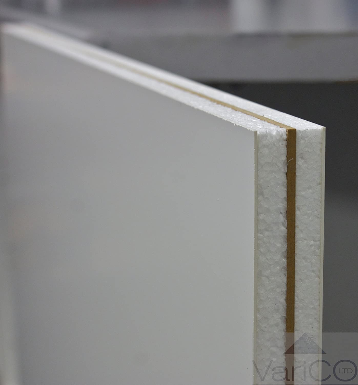 White (C156) UPVC Door Panel Reinforced 750mm X 750mm X 24mm Thick Varico Ltd