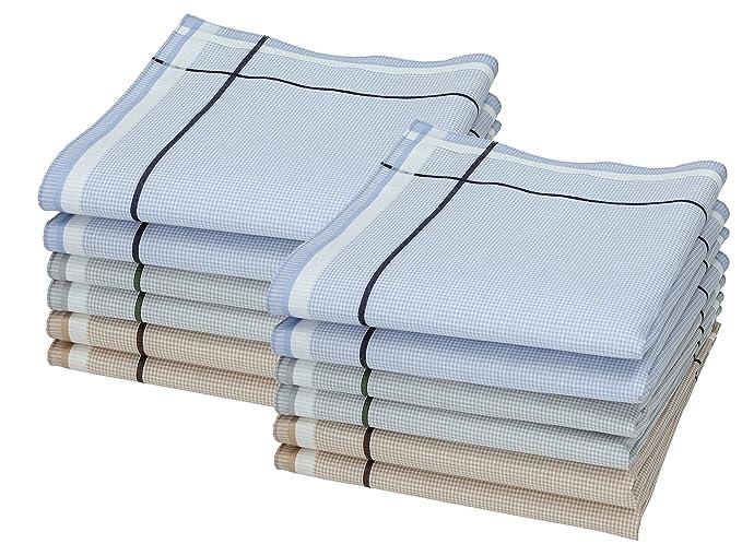 BETZ Juego de pa/ñuelos LEO 2 de tejido para caballeros 100/% algod/ón 40x40 cm dise/ño 8