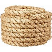 30MM jute barrière touw voor trapleuning/balkon vangrail, industriële henneptouw voor touwtrekken, schommels voor…