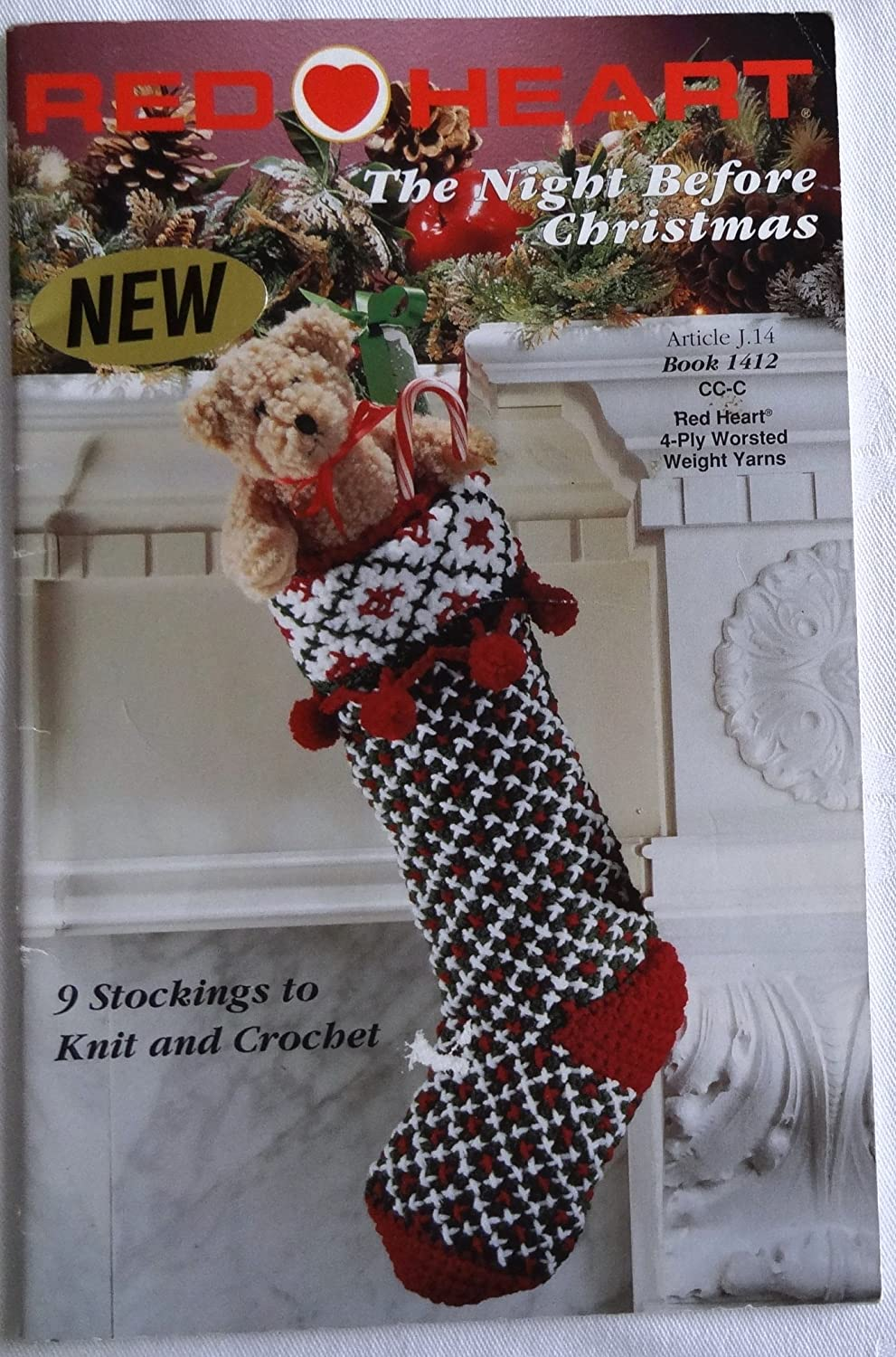 Redheart - The Night Before Christmas - 9 Stockings to Knit and Crochet (Book 1412) various