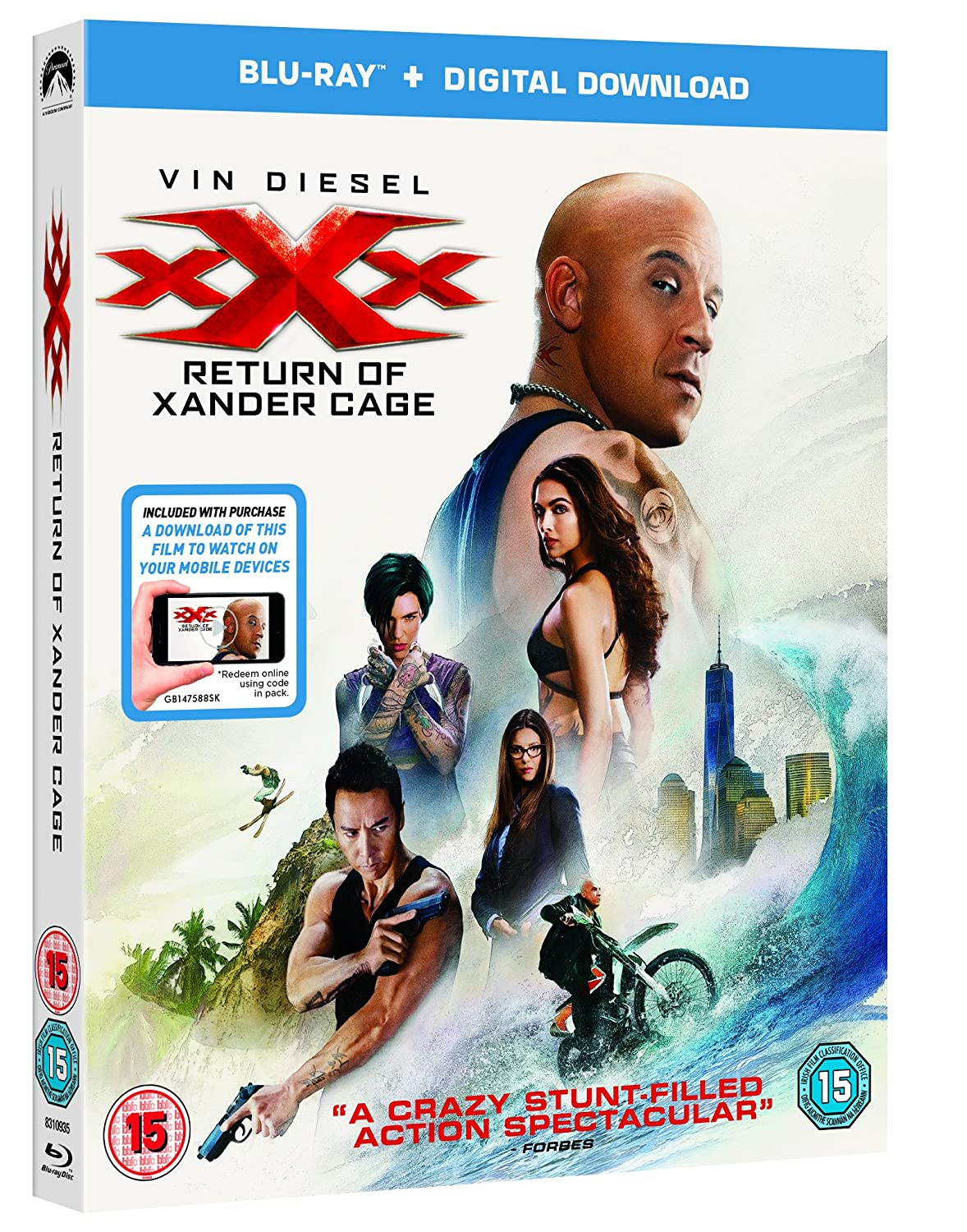 Amazon com: XXX: The Return Of Xander Cage (Blu-ray +