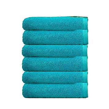 ADP Home - Pack Toallas 550 Grms 6 Piezas (Toalla Tocador) 100% Algodón Peinado Color - Turquesa Talla - 30x50 cm: Amazon.es: Hogar
