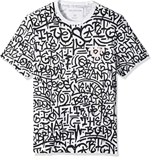 35215ab93cfa01 True Religion Men s Metallic Print Dip Dye Tee T-Shirt  Amazon.co.uk ...