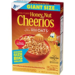 Honey Nut Cheerios, Gluten Free, Cereal with Oats, 27.2 oz