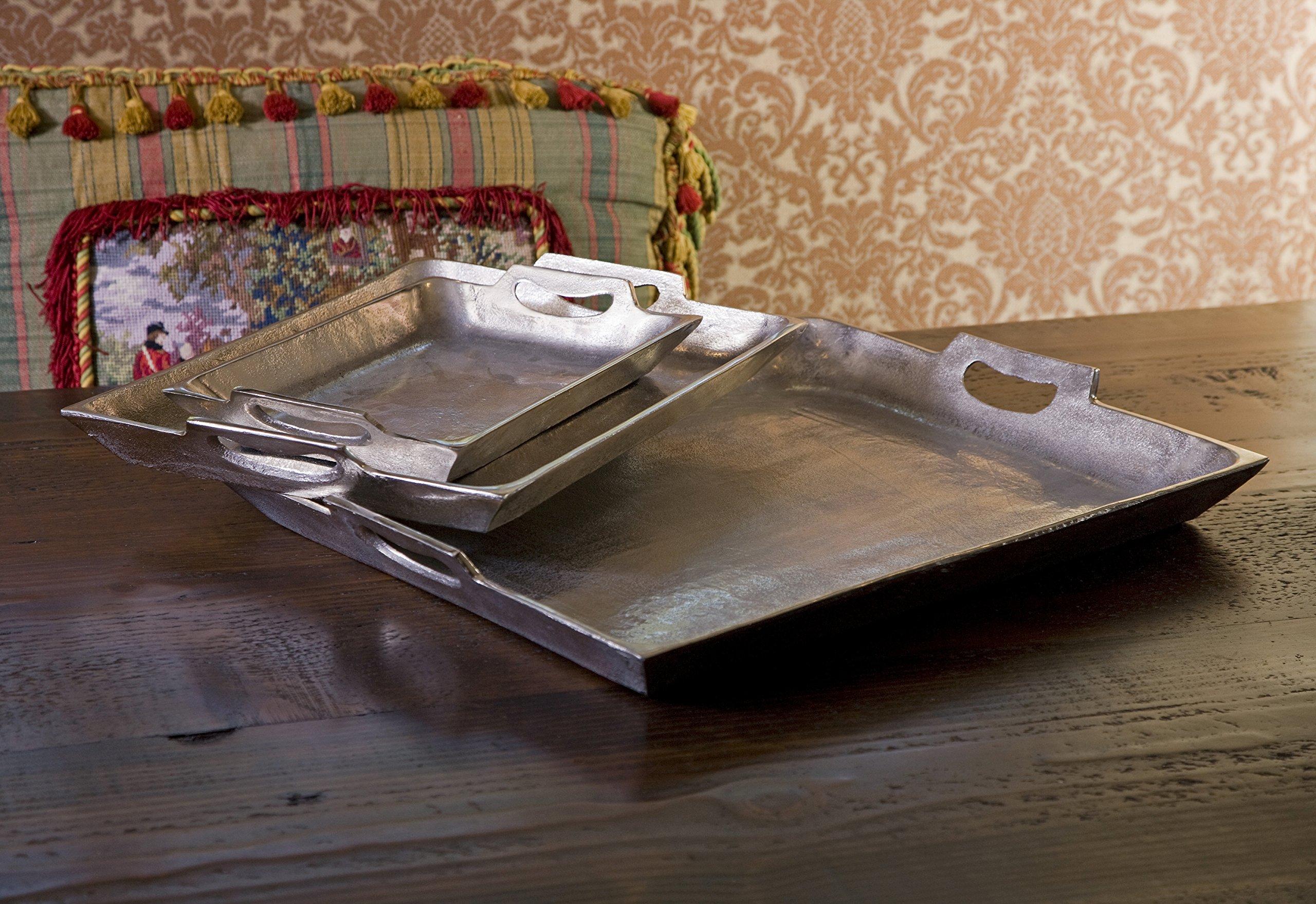 IMAX 64200-3 Lindi Aluminum Trays, Set of 3
