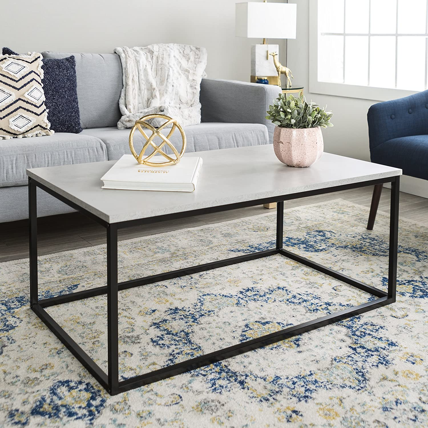 "Amazon WE Furniture 42"" Mixed Material Coffee Table"