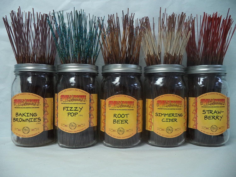 Wildberry Incense Sticks Foodlike Scentsセット# 1 : 4 Sticks各5の香り、合計20 Sticks 。 B00KKSQ9JS