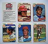 1980 Topps Burger King Pitch Hit Run Set (34 Cards) Near Mint NM
