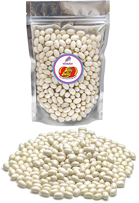 Jelly Belly Coconut Jelly Beans 1lb (1 pound ) in resealable stand-up bag