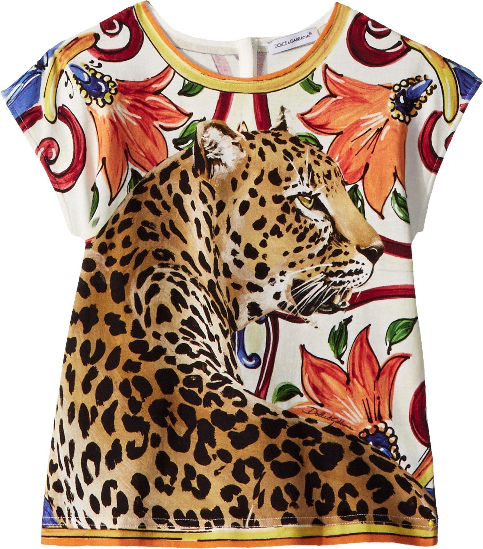 Dolce & Gabbana Kids Baby Girl's T-Shirt (Toddler/Little Kids) Natural Print 5