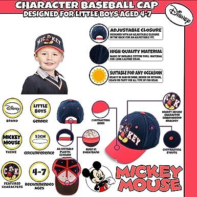 Disney Little Mickey Mouse - Gorra de béisbol de algodón para niño ... c052638185b