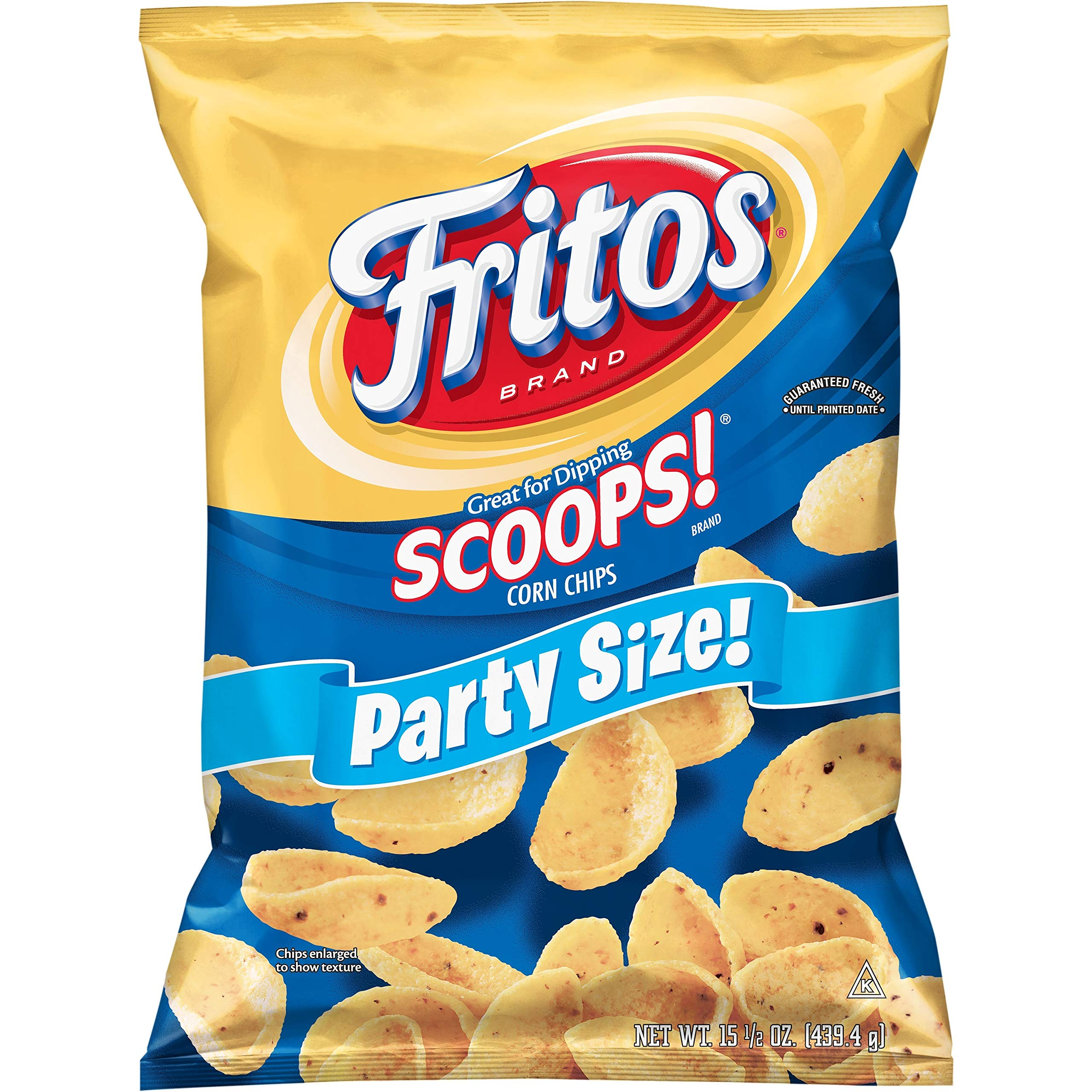 Fritos Scoops! Original Corn Chips, Party Size!, 15.5 Ounce