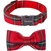 Unique style paws Christmas Dog and Cat Collar with Bow Pet Gift for Dogs and Cats Adjustable…
